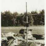 Zniszczony niemiecki czołg - okolice Zawady