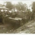 Zniszczony polski czołg - prawdopodobnie między Tomaszowem Maz. a Ujazdem