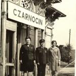 """Przystanek kolejowy """"Czarnocin"""" w latach 60-tych XX w."""