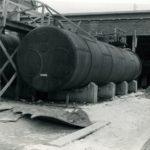 Zbiorniki z chemikaliami na terenie TFSJ (okres międzywojenny). Zbiory Jerzego Pawlika