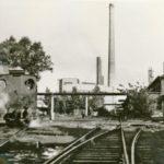 Na zdjęciu: Torowiska w wilanowskiej fabryce. Zdjęcie z 1965 roku. Zbiory Józefa Gołębiewskiego