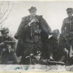 """Partyzanci z oddziału WiN AK """"Żbik"""" - kwiecień 1946 (źródło: Archiwum IPN Łódź)"""