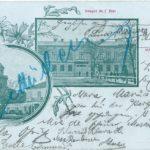 Na zdjęciu: Budowle Tomaszowa na pocztówce z 1899 roku. Zbiory Muzeum w Tomaszowie Mazowieckim