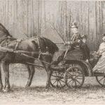 Na zdjęciu: Car Aleksander III na przejażdżce w lasach spalskich. Rycina z 1892 roku. Archiwum Andrzeja Kobalczyka