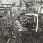 Na zdjęciu: Pogorzelisko jednej z tomaszowskich fabryk włókienniczych. Zdjęcie z pocz. XX wieku. Archiwum Andrzeja Kobalczyka