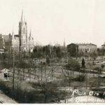 Park Rodego z widoczną po lewej stronie werandą na przedwojennej pocztówce. Archiwum Andrzeja Kobalczyka