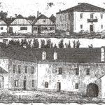 """Na zdjęciu: Dom Esterki i Zamek Kazimierzowski na starej rycinie. """"Kłosy"""" z 23 kwietnia 1874 roku"""