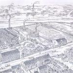 Na zdjęciu: Fabryki wokół stawu na Wolbórce. Rycina z końca XIX w. Archiwum Andrzeja Kobalczyka.