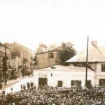Na zdjęciu: Nieistniejący budynek przy pl. Kościuszki 1 (róg ul. Jerozolimskiej). Zdjęcie z 1933 roku. Archiwum Andrzeja Kobalczyka