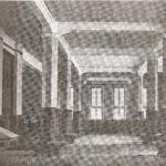 """Na zdjęciu: Dawny wygląd holu na paterze magistratu w Tomaszowie. """"Echo Mazowieckie"""" z 20.08.1927 r."""